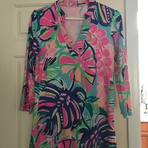 Pretty Lilly Pulitzer cover up/tunic
